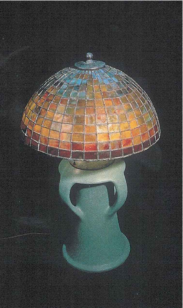 Custom Lighting Teco Pottery Tiffany Dome