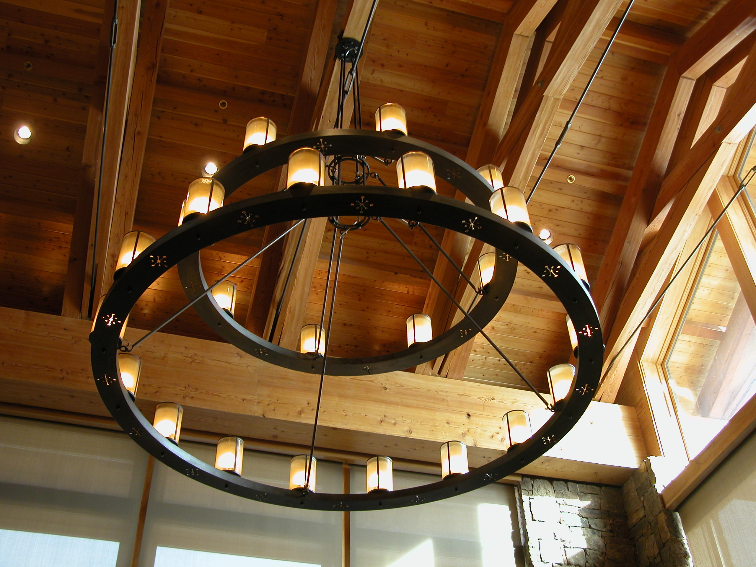 Custom Lighting Two Tier Lodge Fixture