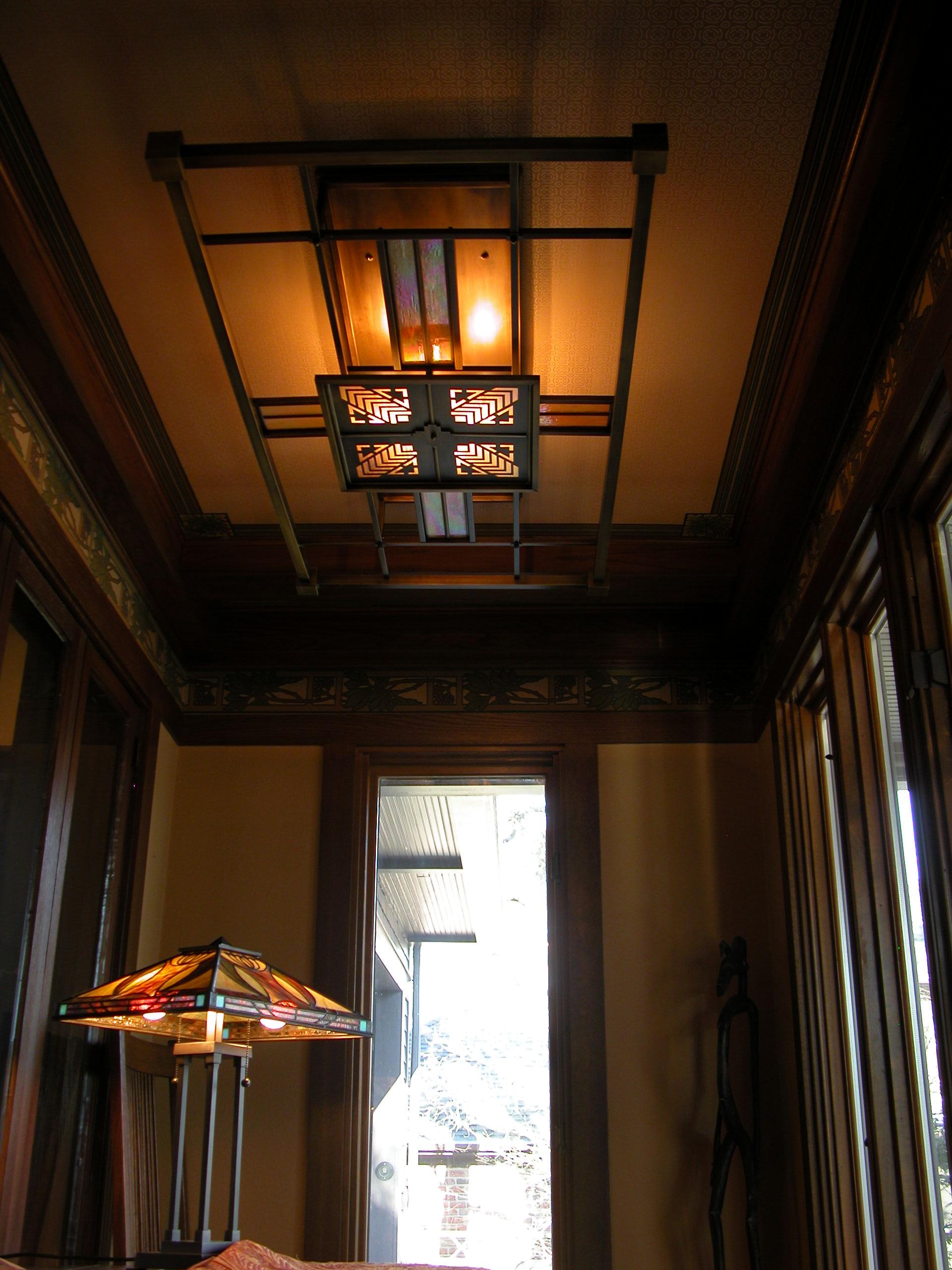Custom Lighting Prairie Grille Ceiling Fixture