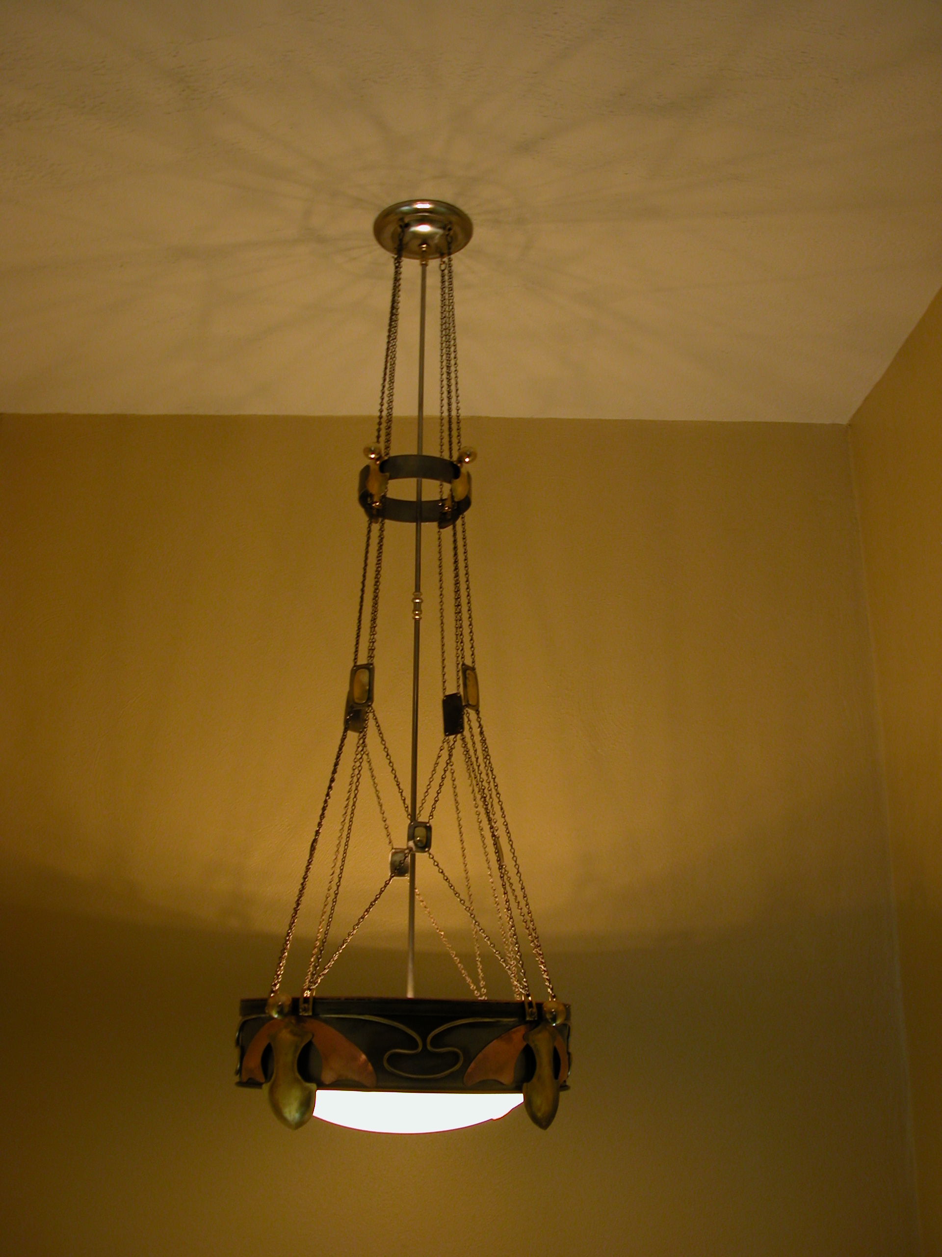 Custom Lighting Tudor Style Chandelier