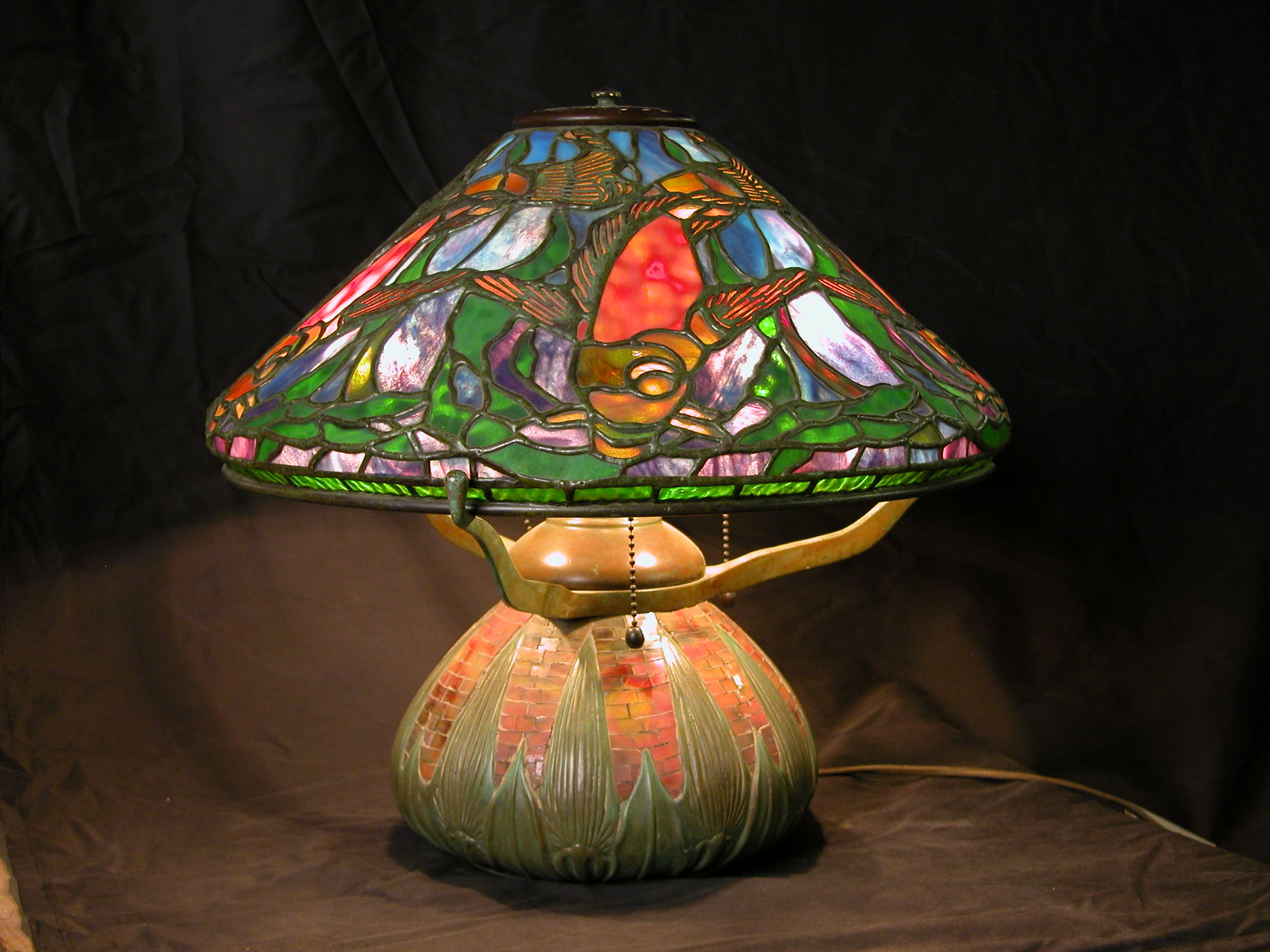 Custom Lighting Tiffany Fish Lamp