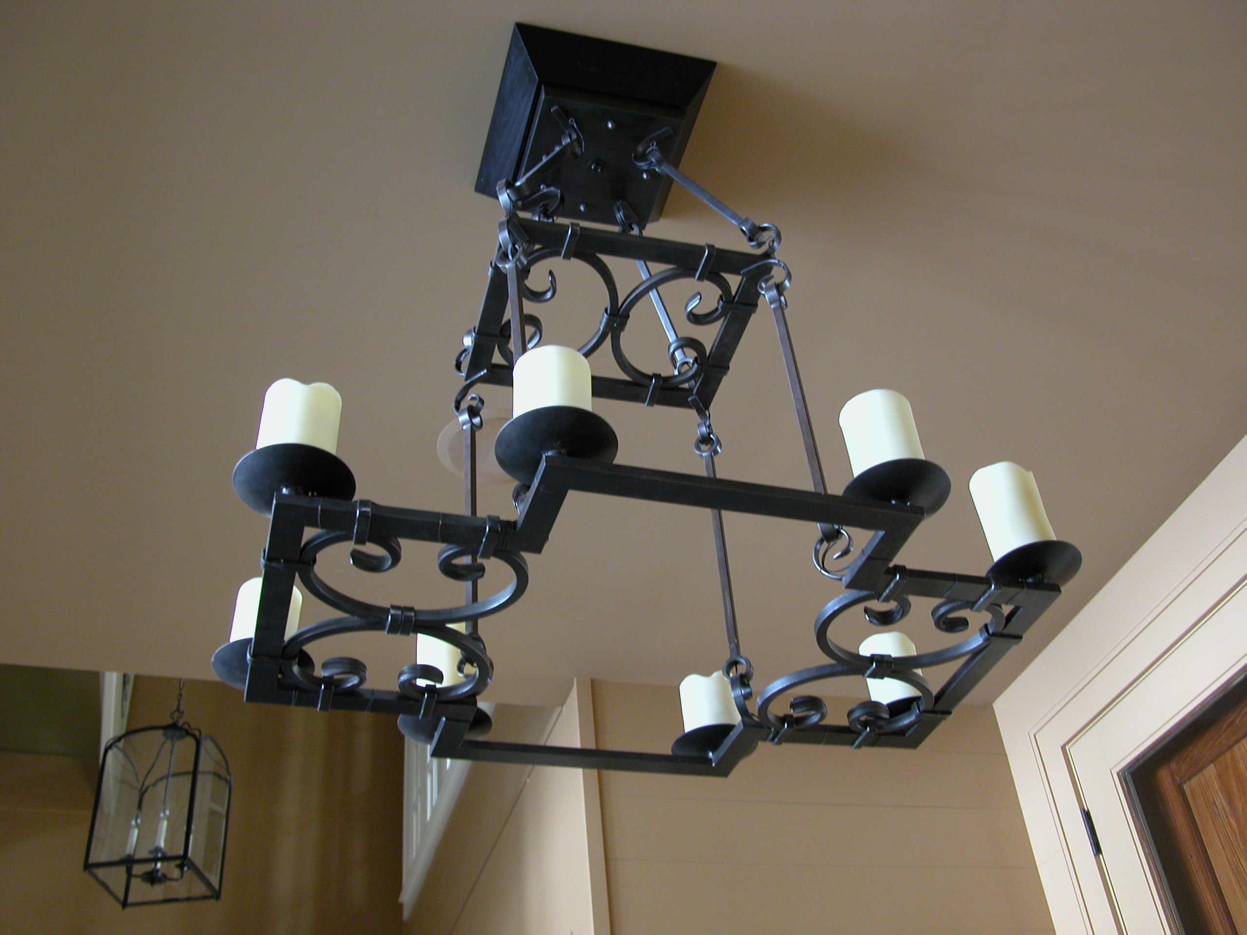 Custom Lighting Iron Pillar Candle Fixture