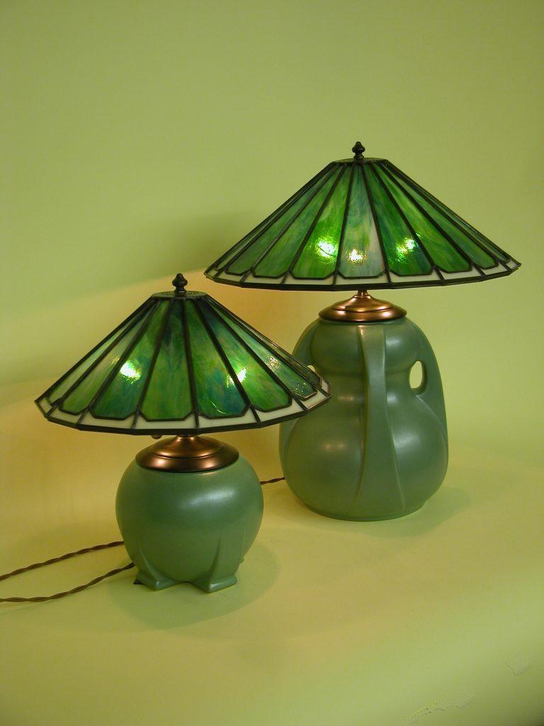 Custom Lighting Teco Style Stained Glass Lamp