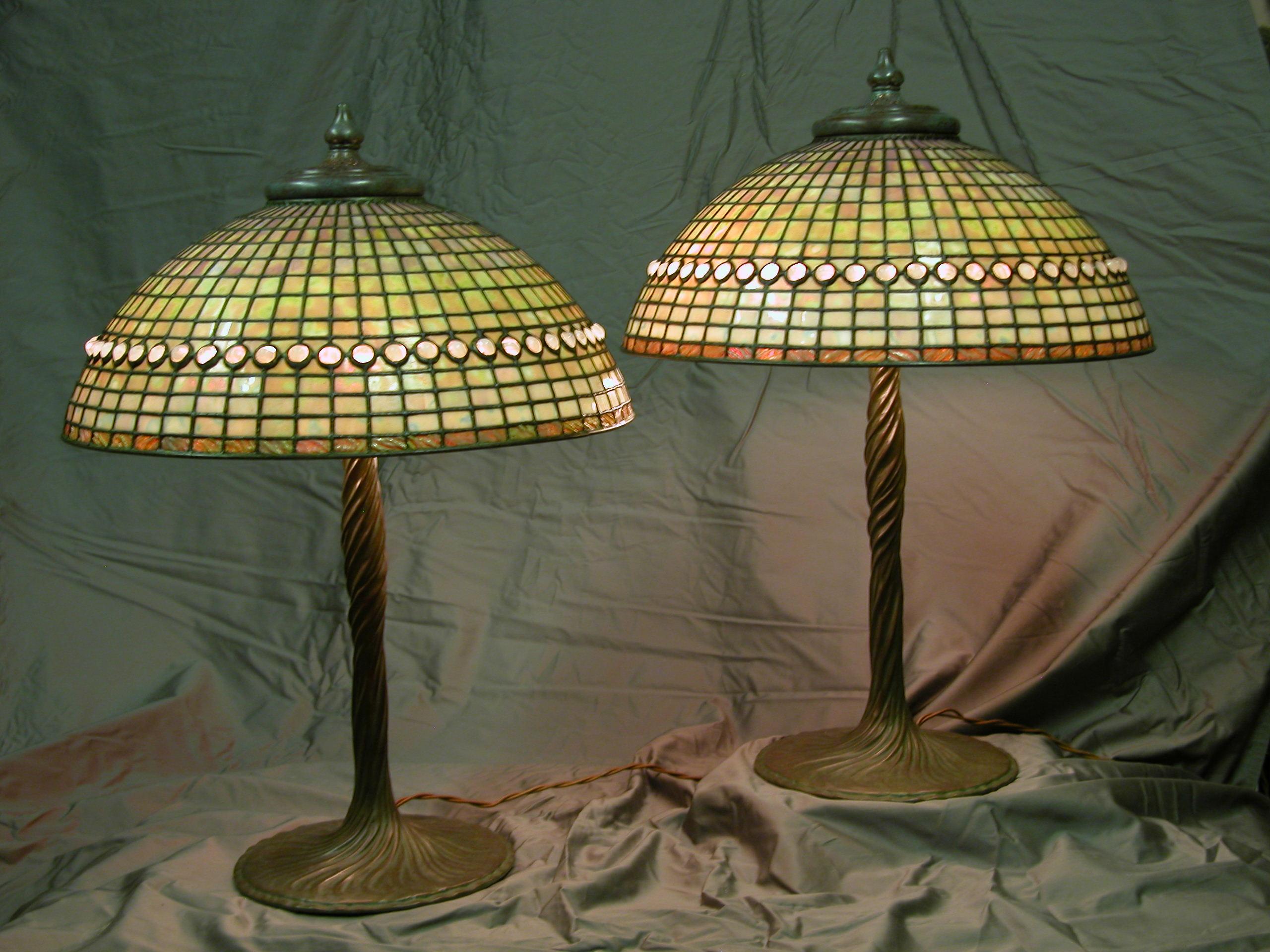 Custom Lighting Jeweled Geometric Dome on Twisted Vine Base