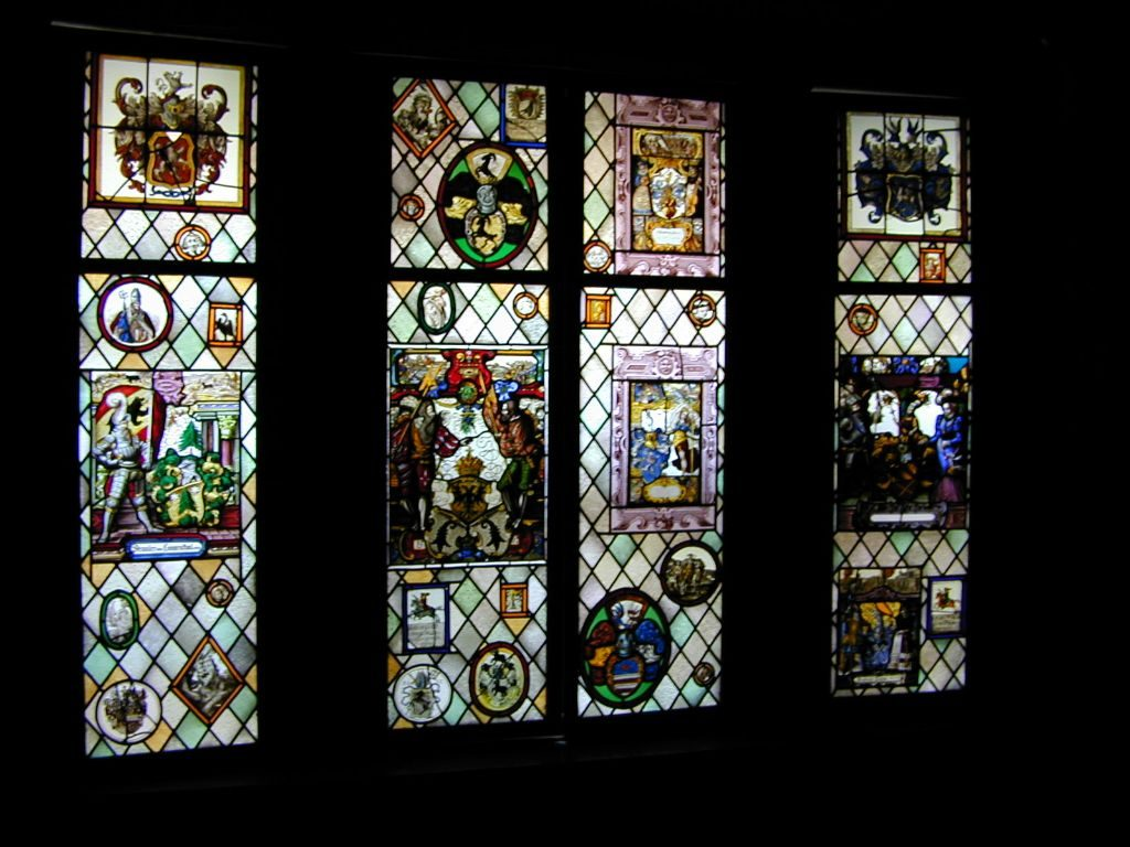 Gothic Heraldic Stained Glass Windows 1